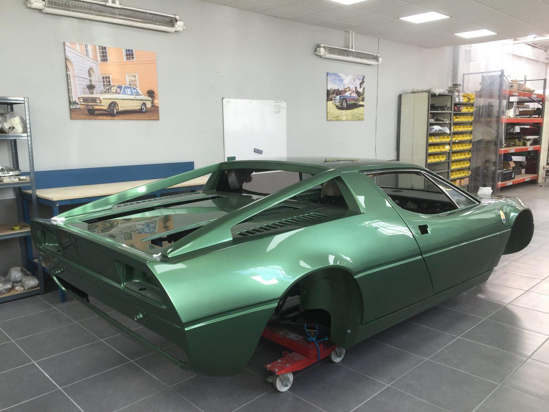 Maserati Merak in the tiled assembly room