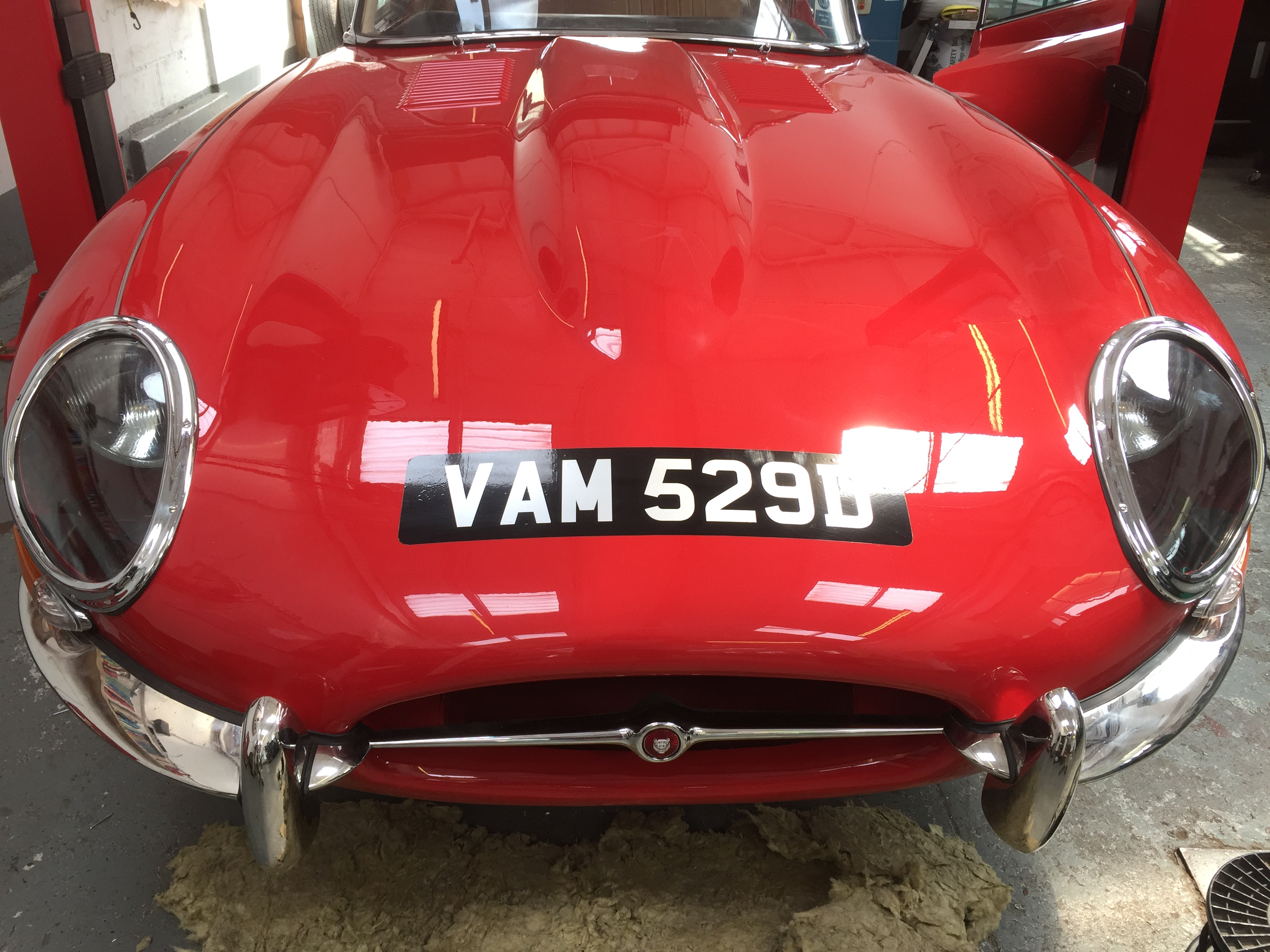 Jaguar E Type For Sale >> The front plate is on. - Bridge Classic Cars