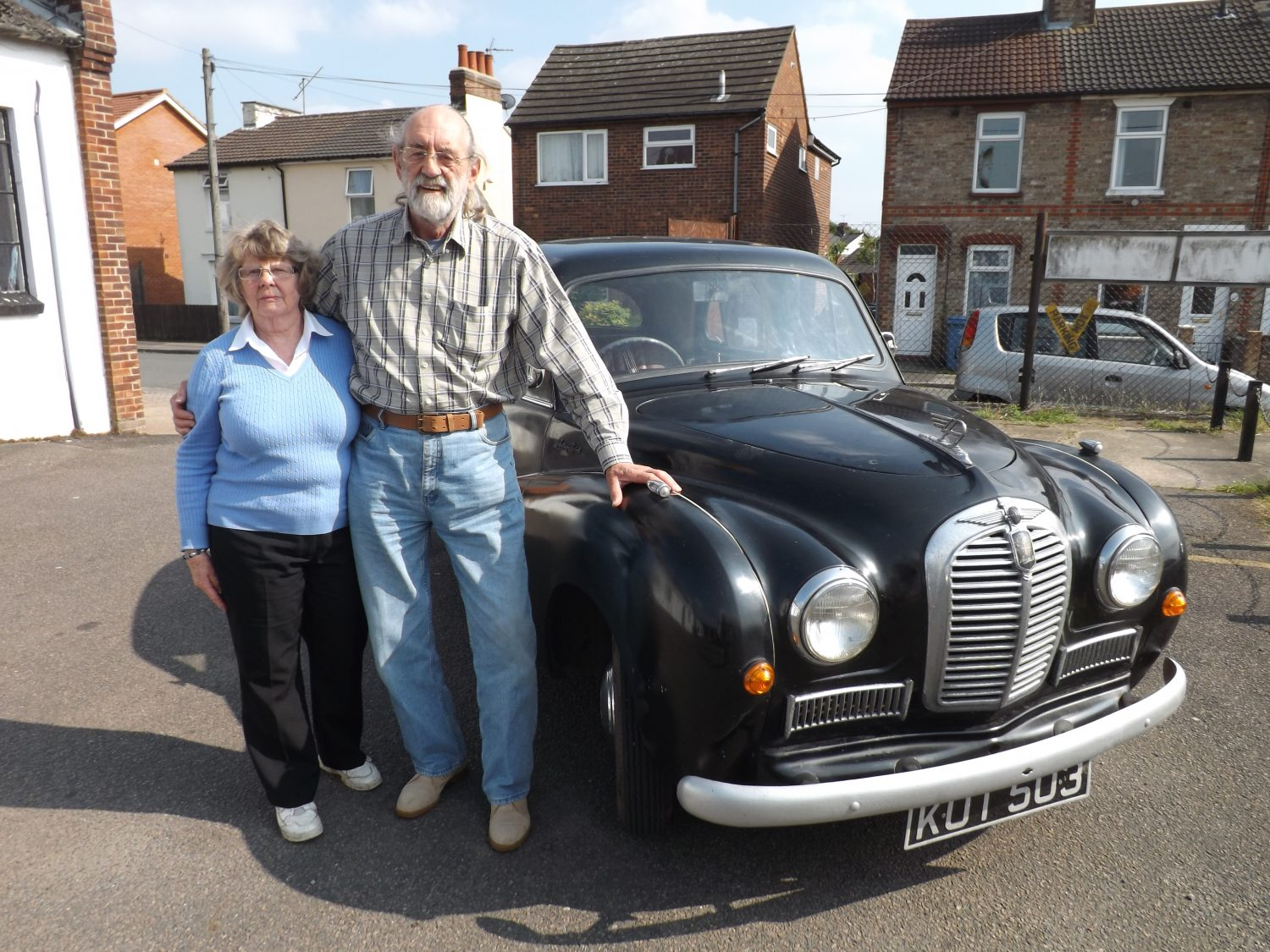 Mr and Mrs Smith at Bridge Classic Cars