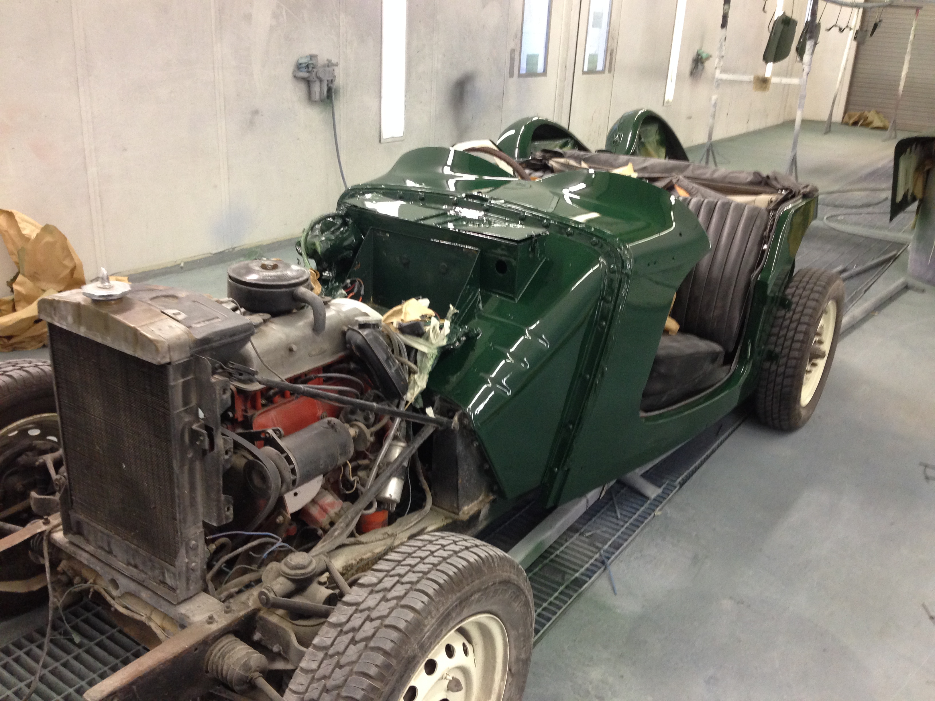 1951 MGTD Competition Stripped and Painted