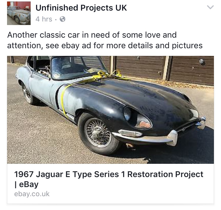 Unfinished Projects UK - July 2016 - Bridge Classic Cars