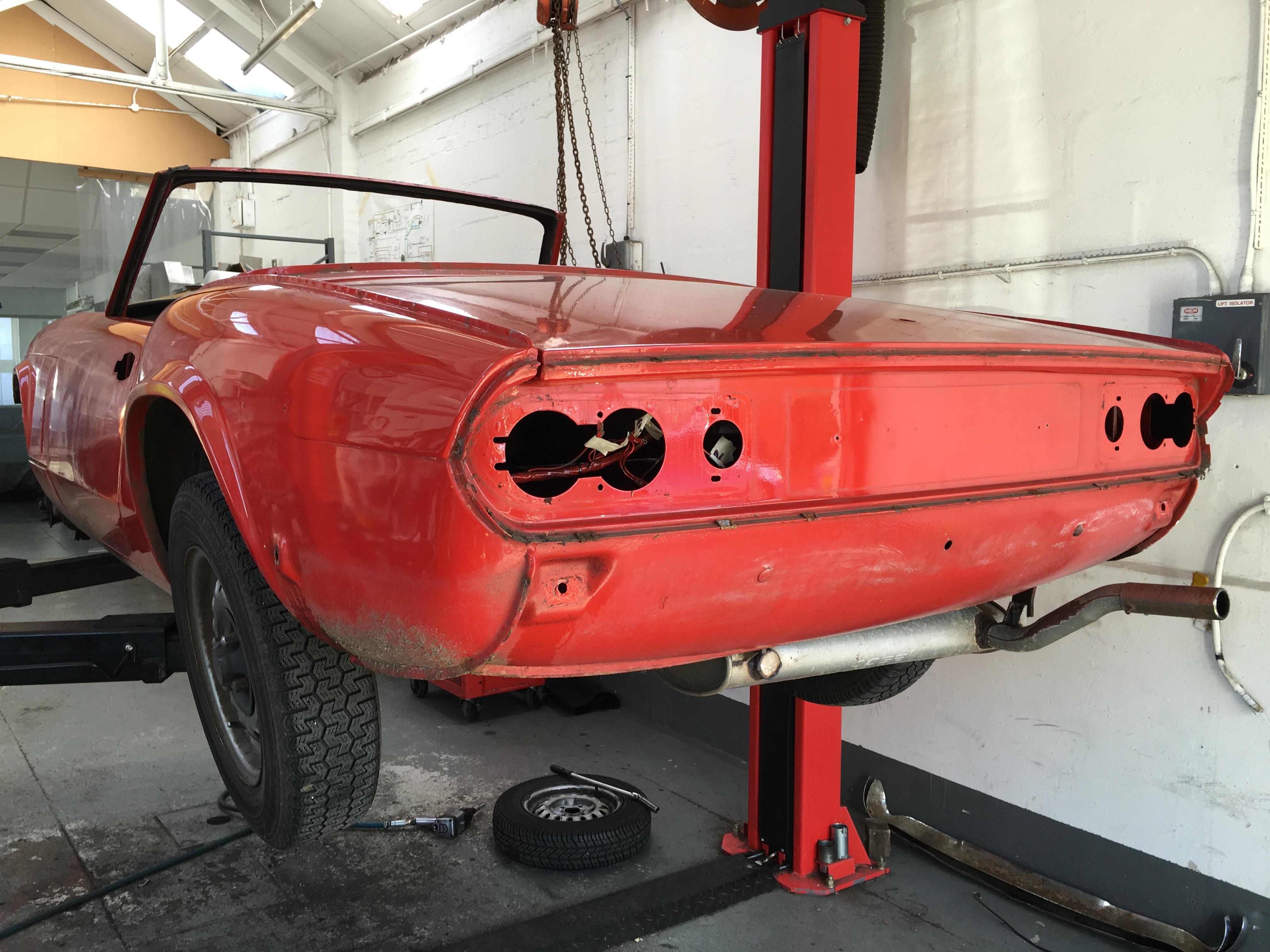 1971 Triumph Spitfire Stripped at Bridge Classic Cars