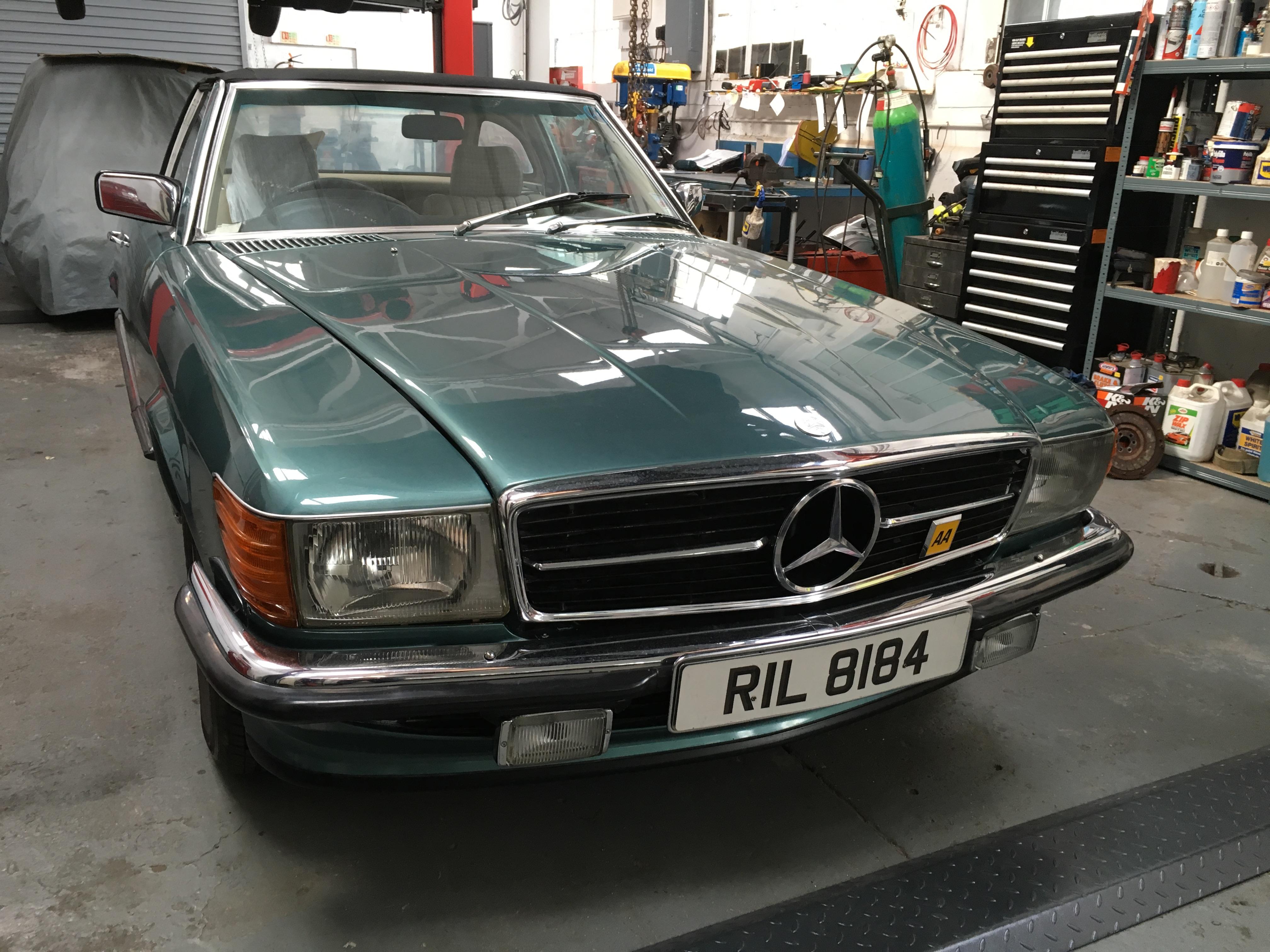 1985 Mercedes 280SL at Bridge Classic Cars