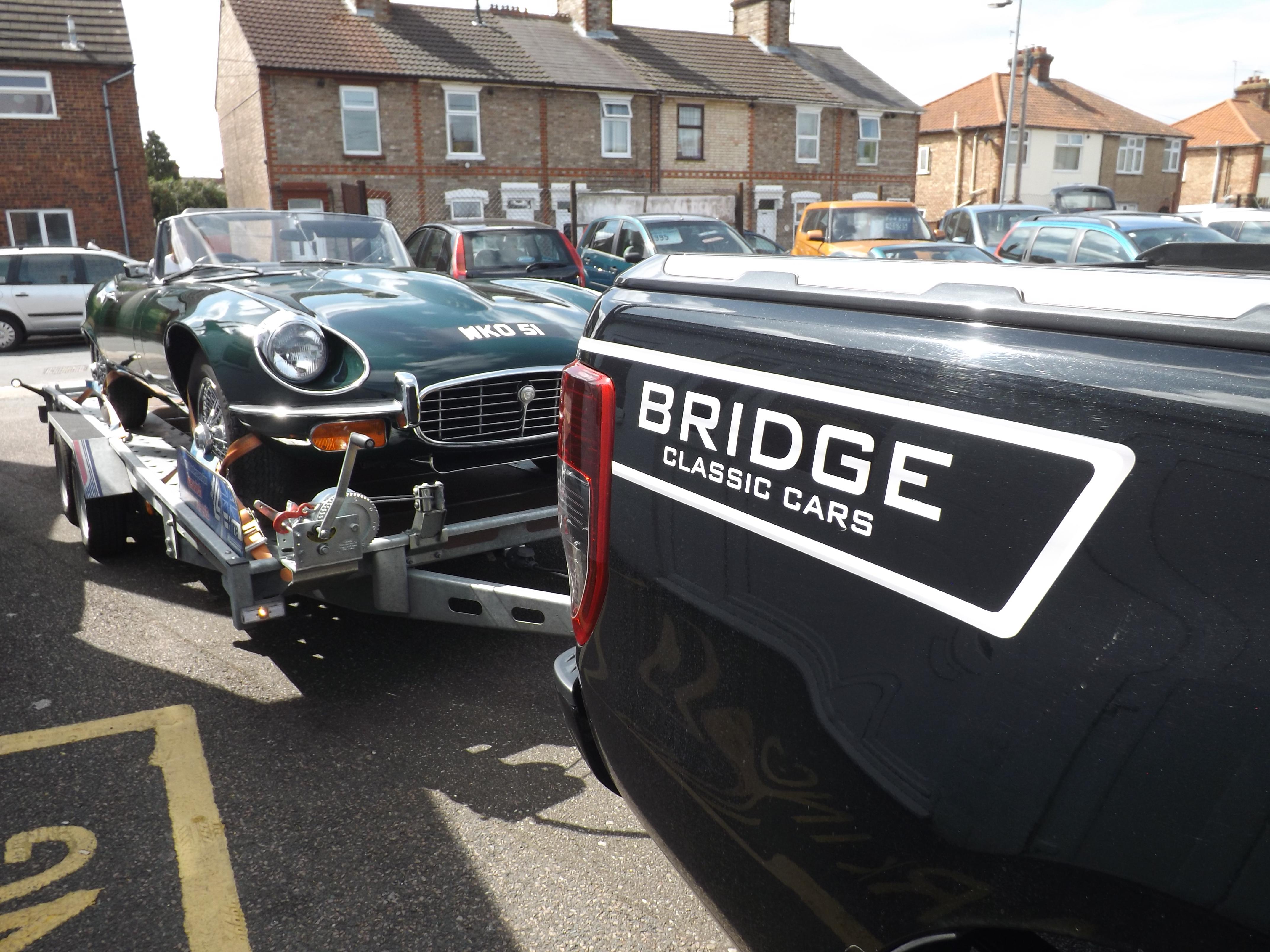 1972 Jaguar E-Type Roadster Series 3 Arriving at Bridge Classic Cars
