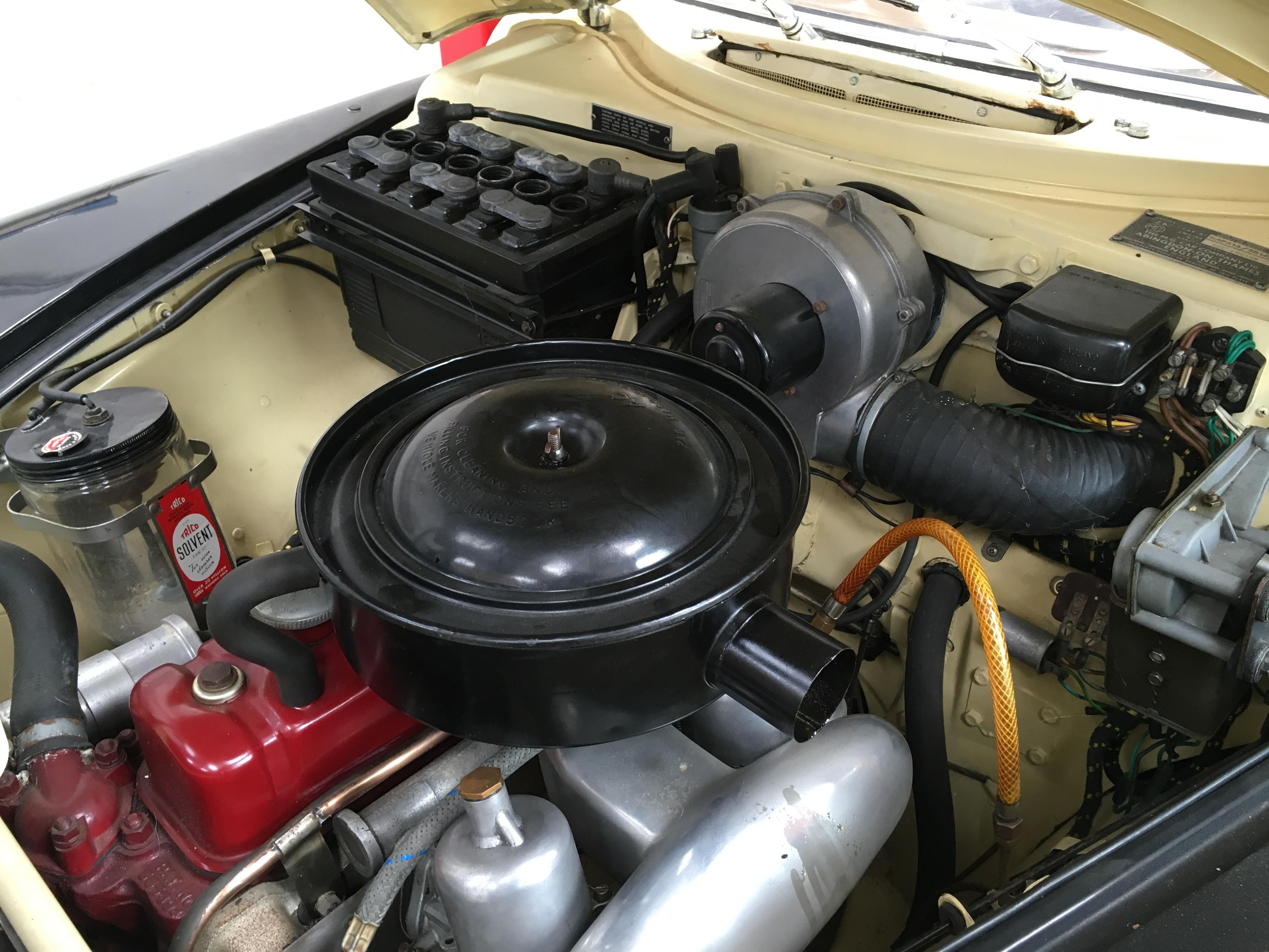 1958 MG Magnette Engine Bay