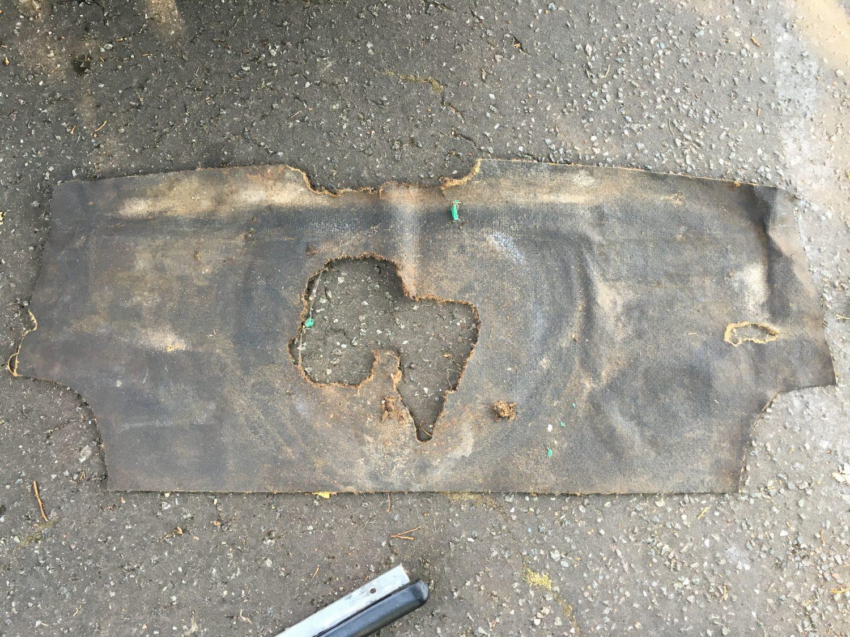 1971 Triumph Spitfire boot mat being remade