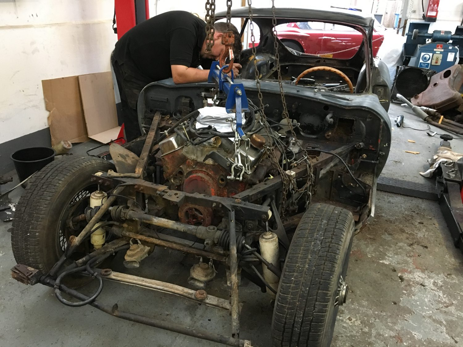 Mark and John started the E-Type engine