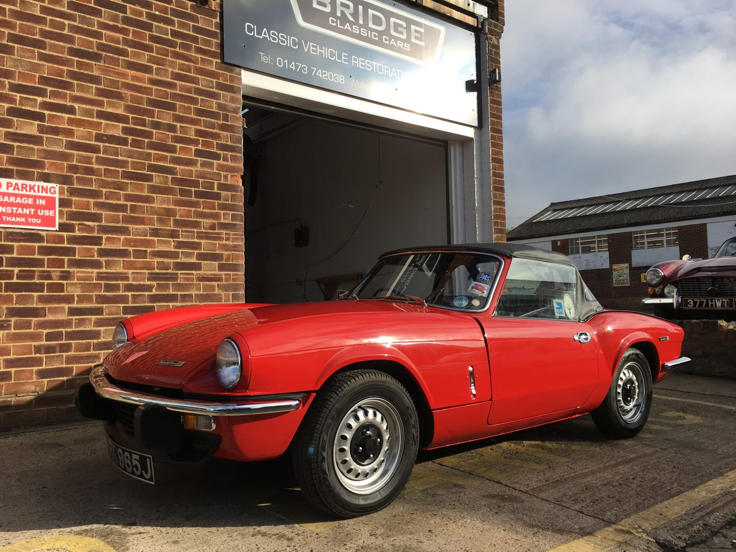 1971 triumph spitfire now on her way home bridge classic cars. Black Bedroom Furniture Sets. Home Design Ideas