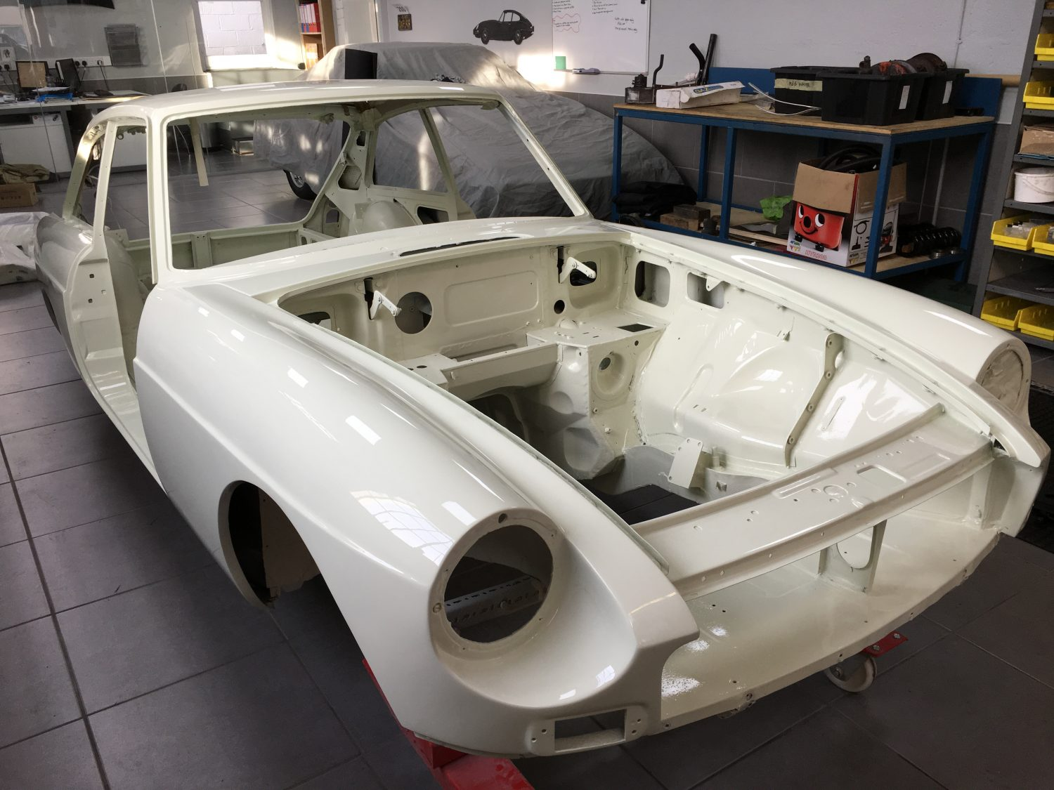 1968 MGBGT Restoration - Snowberry White