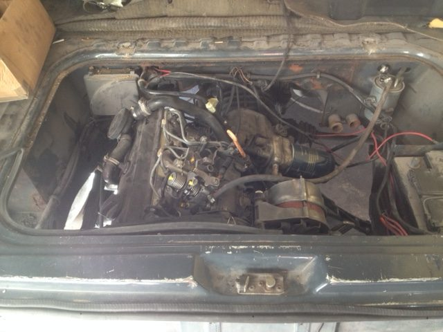 VW T25 Camper Engine Fitted