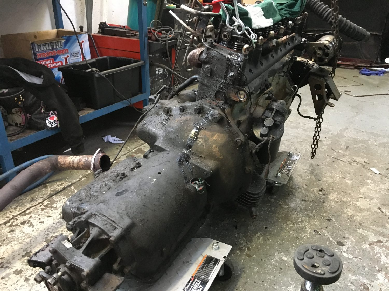 1960 Jensen 541S Prototype 750 CEA Engine Removed