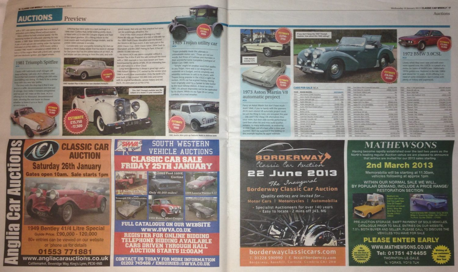 Classic Car Weekly - January 2013 - Bridge Classic Cars