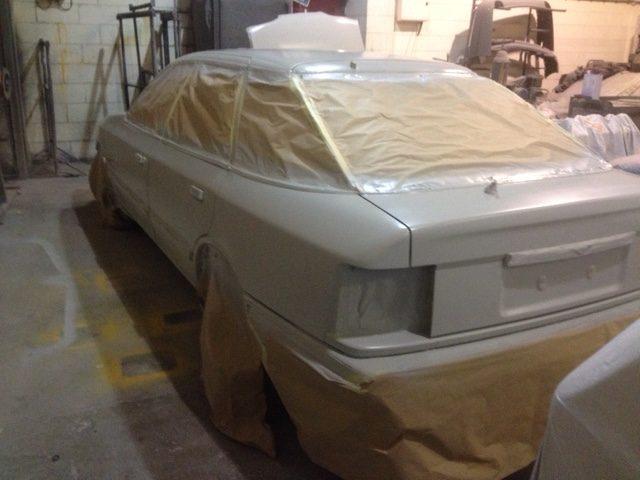 1989 Ford Granada in primer
