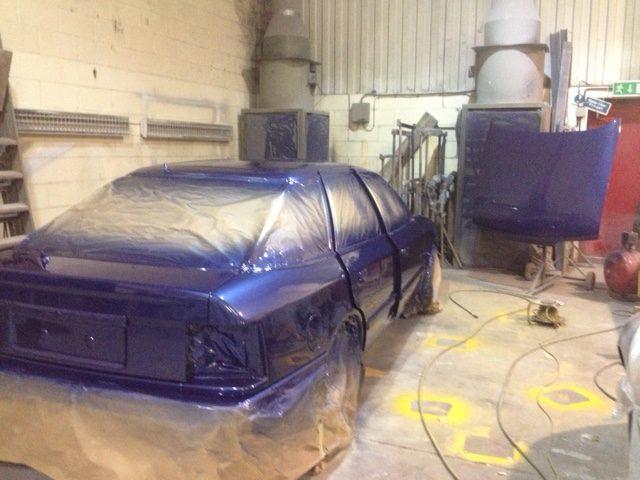 Ford Granada in paintshop
