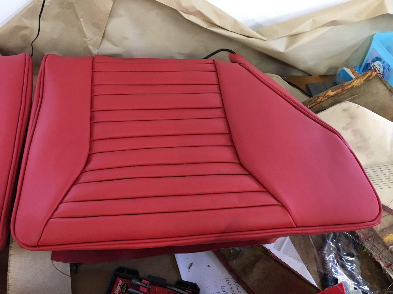 1976 Maserati Merak Interior being Re-Upholstered