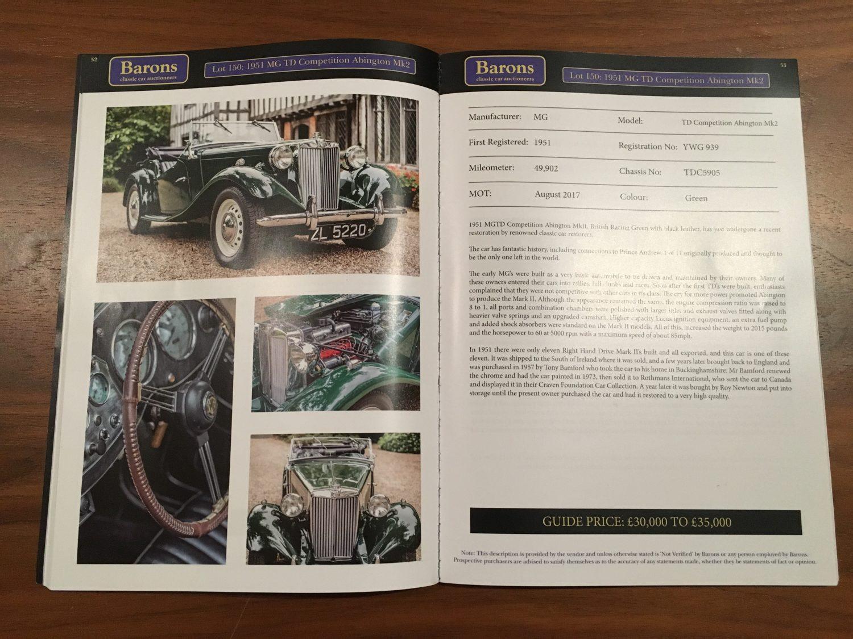 Barons Christmas Classic Brochure 2016