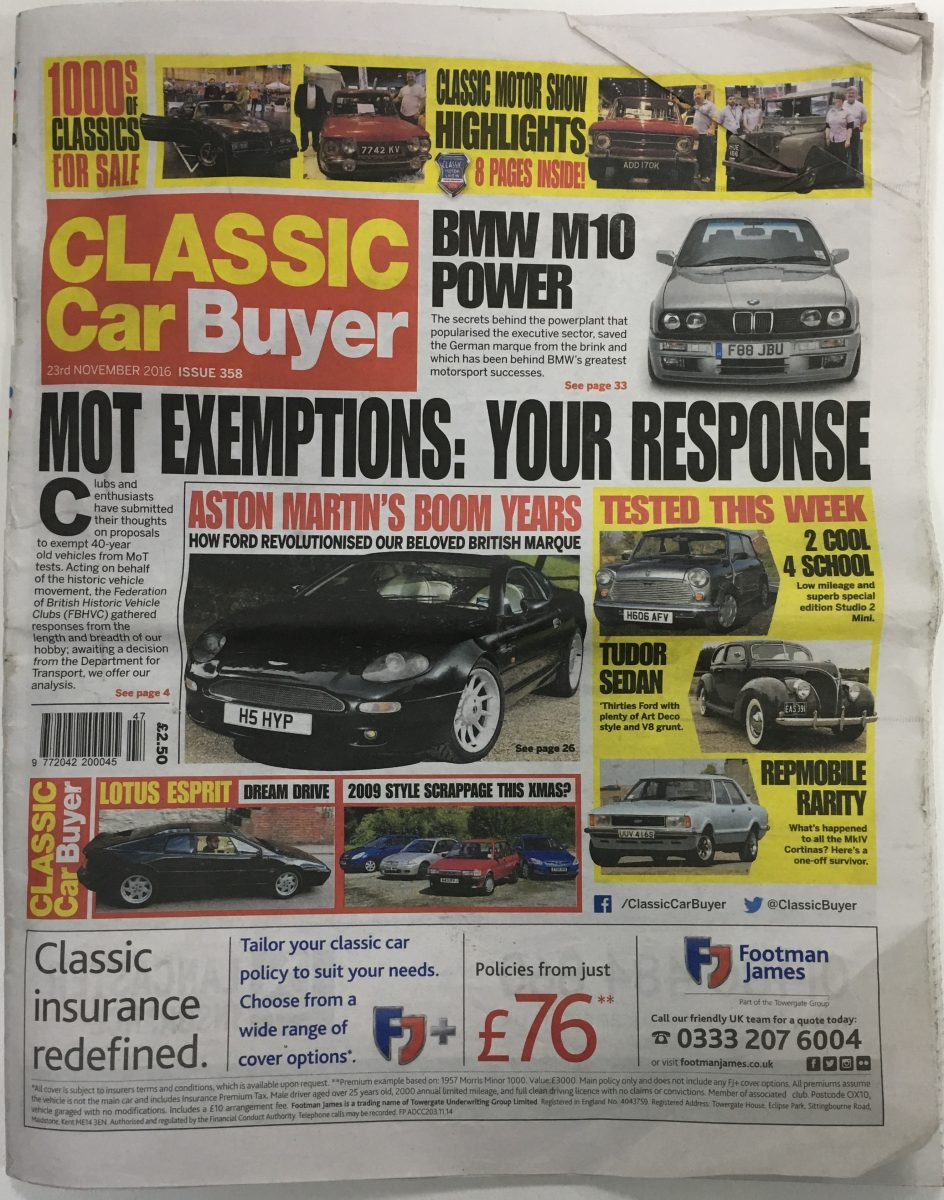 Classic Car Buyer - November 2016 - Issue 358