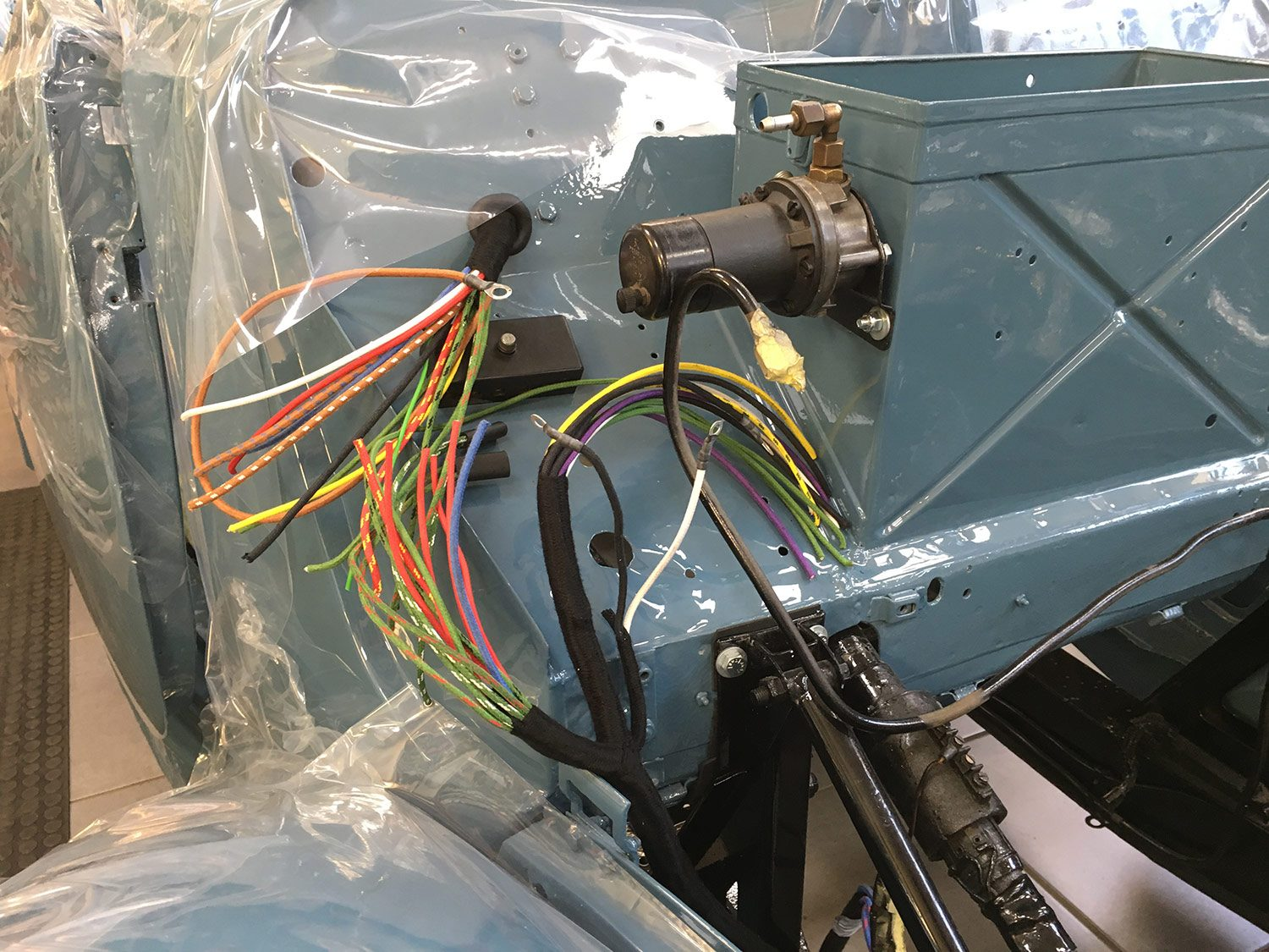 Fitting The New Mgyt Wiring Loom Bridge Classic Cars Car Suppliers We Started Back On Today With Daves First Job Being To Install