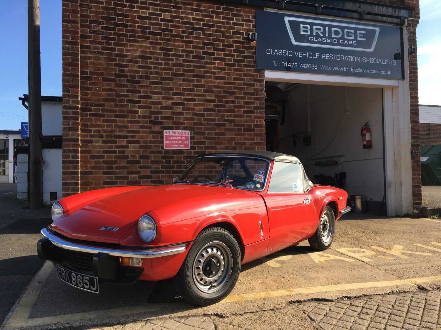 completing the remedial work on our 1971 triumph spitfire bridge classic cars. Black Bedroom Furniture Sets. Home Design Ideas