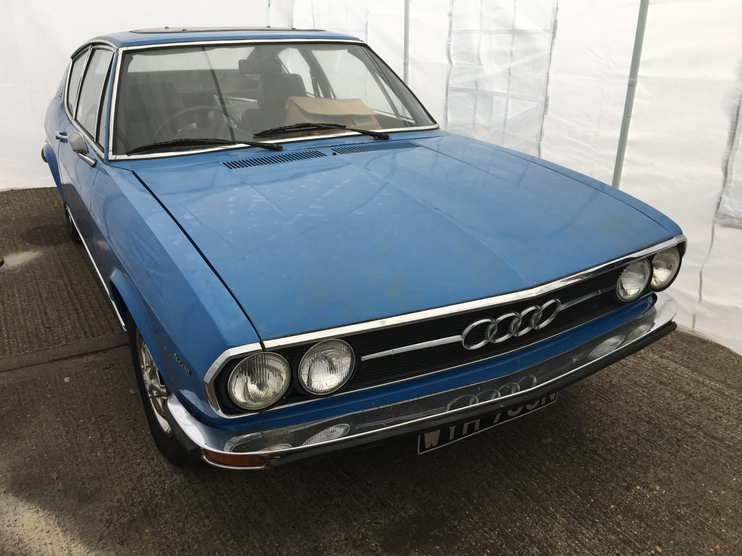 1974 Audi 100 Coupe S in for full restoration