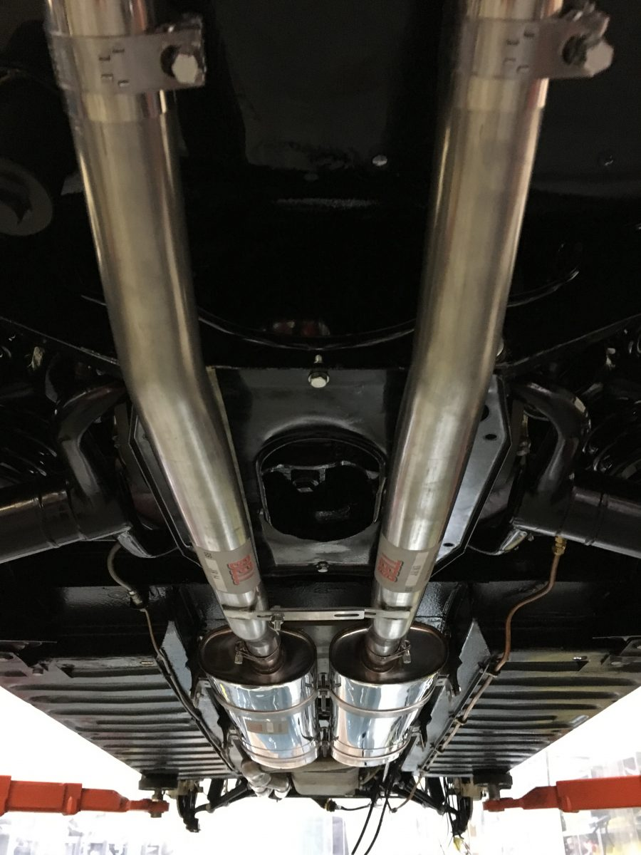 Jaguar E Type >> Fitting up the new stainless exhaust - Bridge Classic Cars