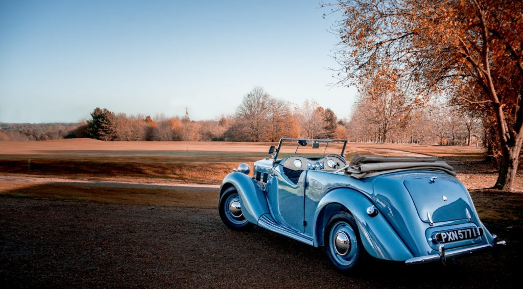 Our 1949 MG YT photo shoot at Fynn Valley Golf Club
