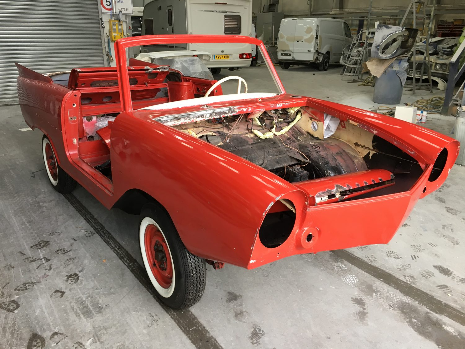 1965 Amphicar – Paint Preparation