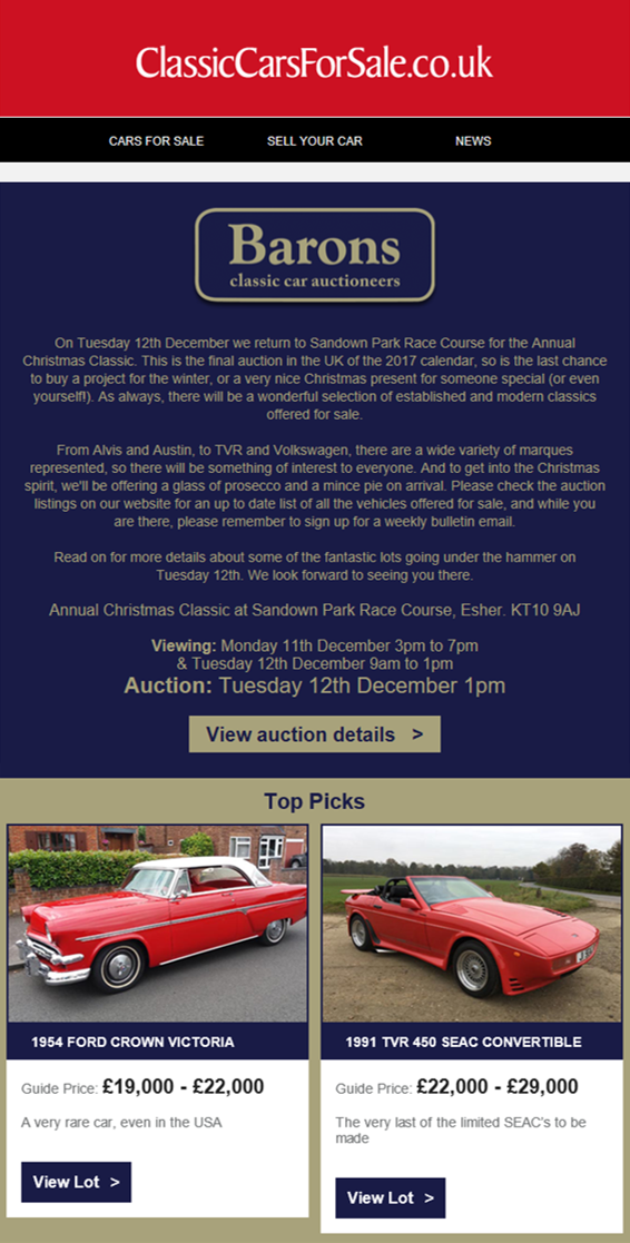 Classic Cars For Sale - December 17 - Bridge Classic Cars