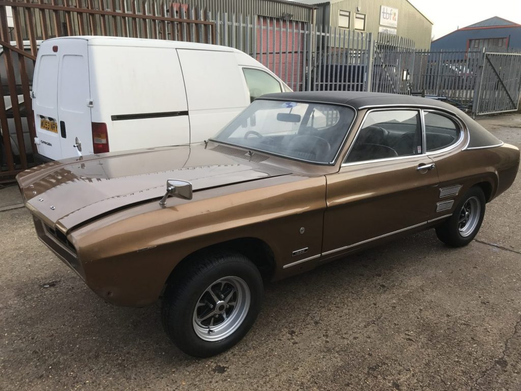 1971 Ford Capri arriving for a respray