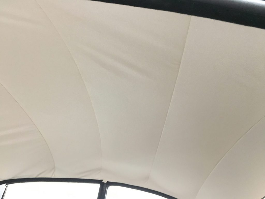 Fitting up the new ceiling cloth