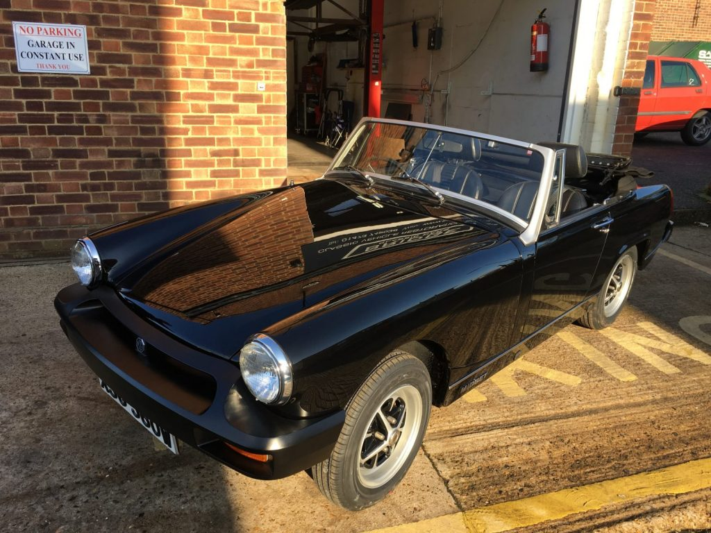 1980 MG Midget project complete and ready for the final clean