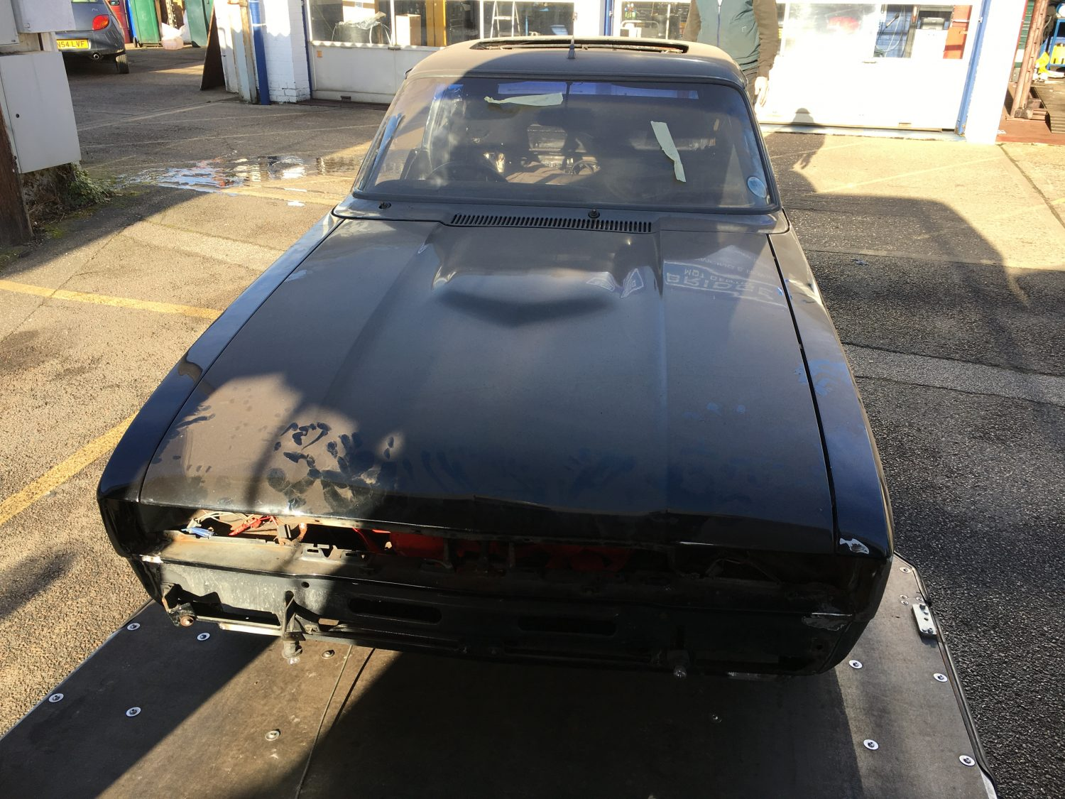 Ford Capri Off To Paint Bridge Classic Cars
