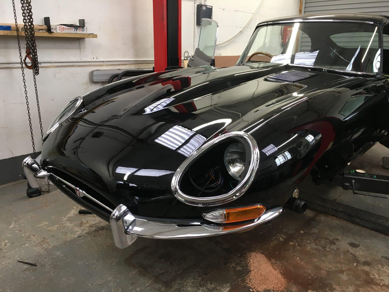 Classic Car Bumpers : Aligning the jaguar e type front bumper bridge classic cars