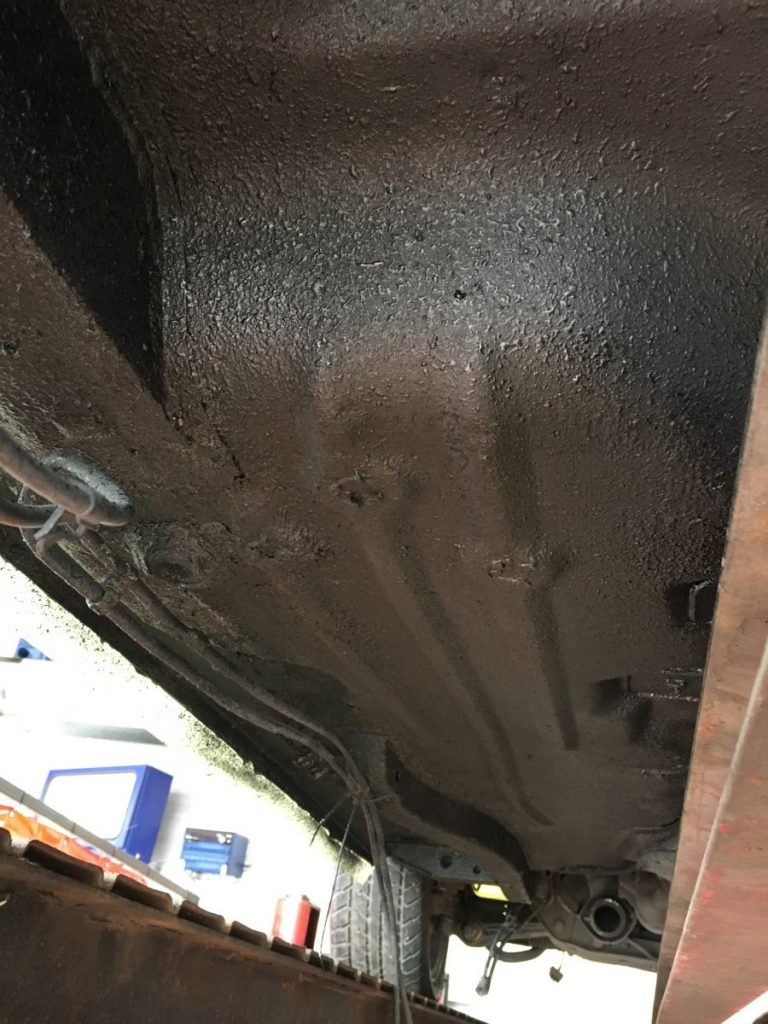 Under-sealing our 1983 Ford Capri