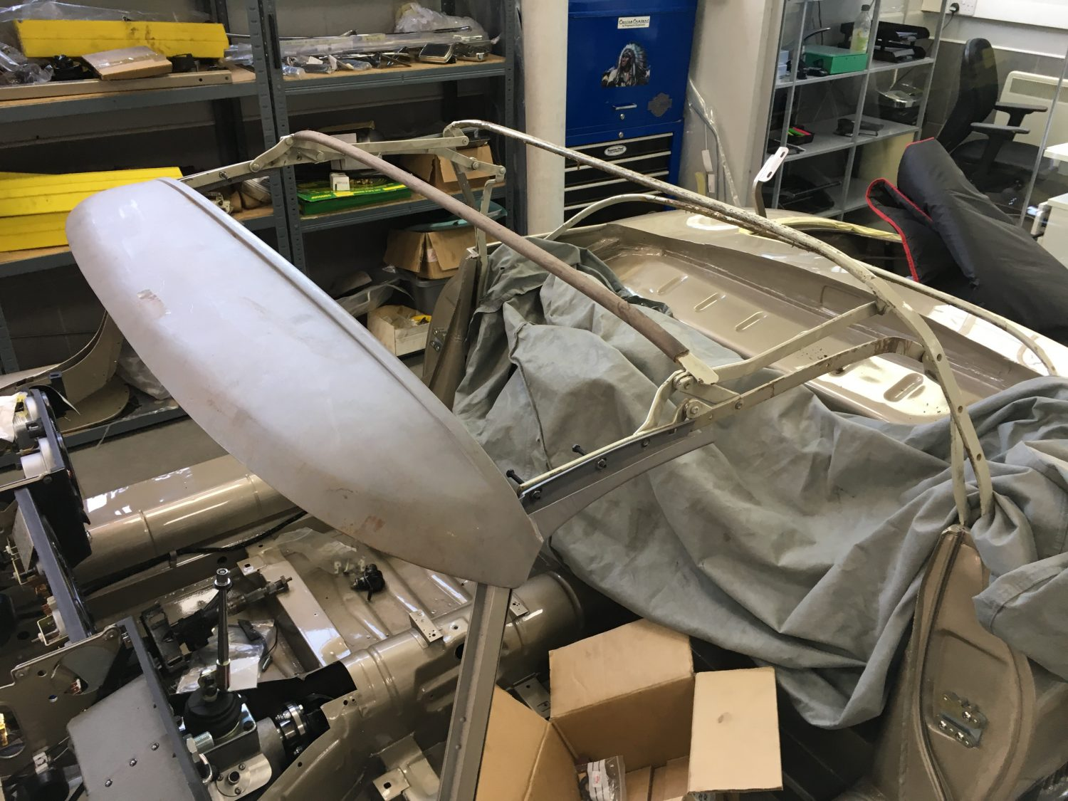 Test Fit Of Our E Type Roadster Hood Frame Bridge