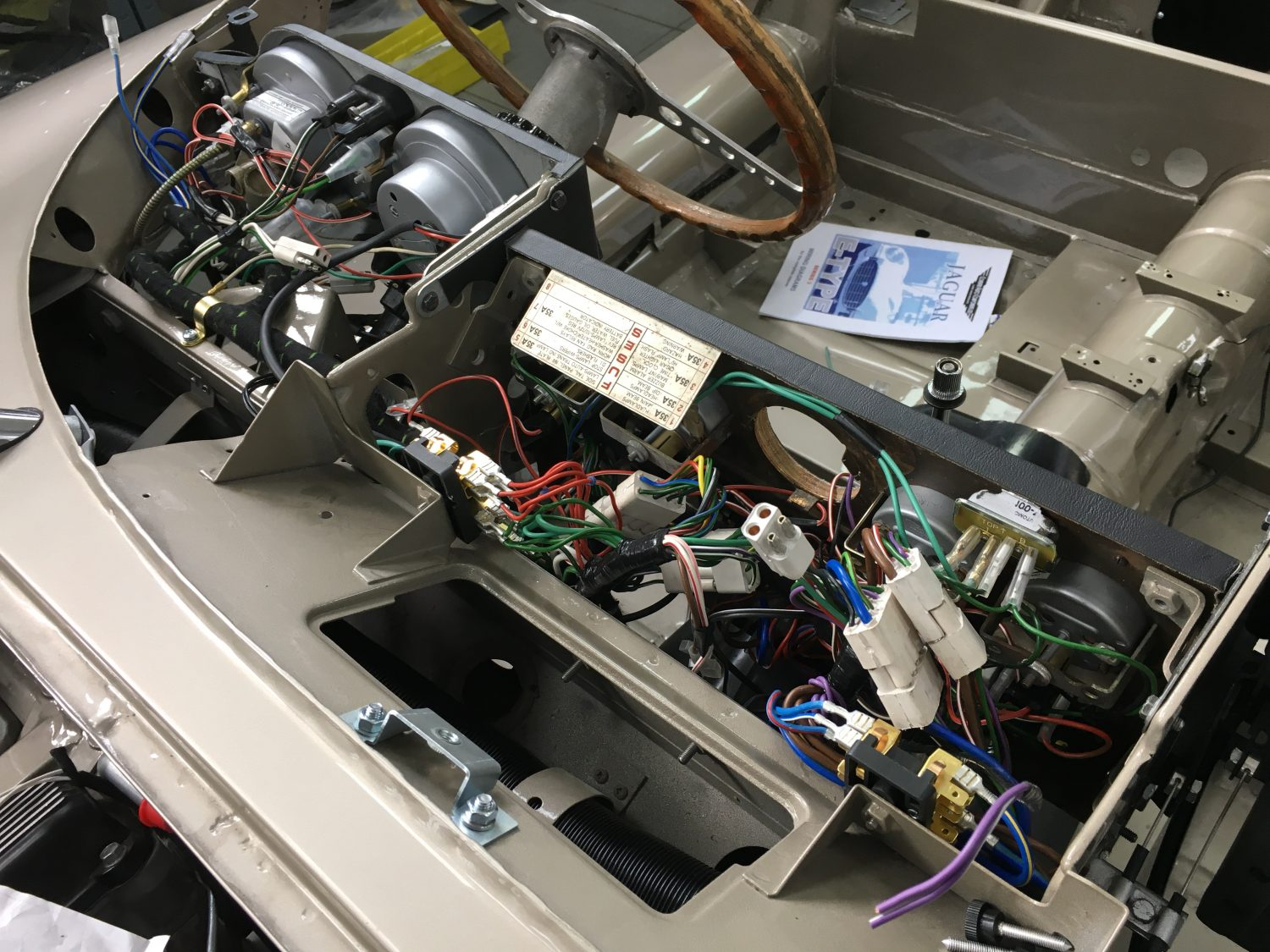 Fitting Up The New V12 Wiring Loom Bridge Classic Cars Automotive Looms Centre Section And Dashboard Are Complete
