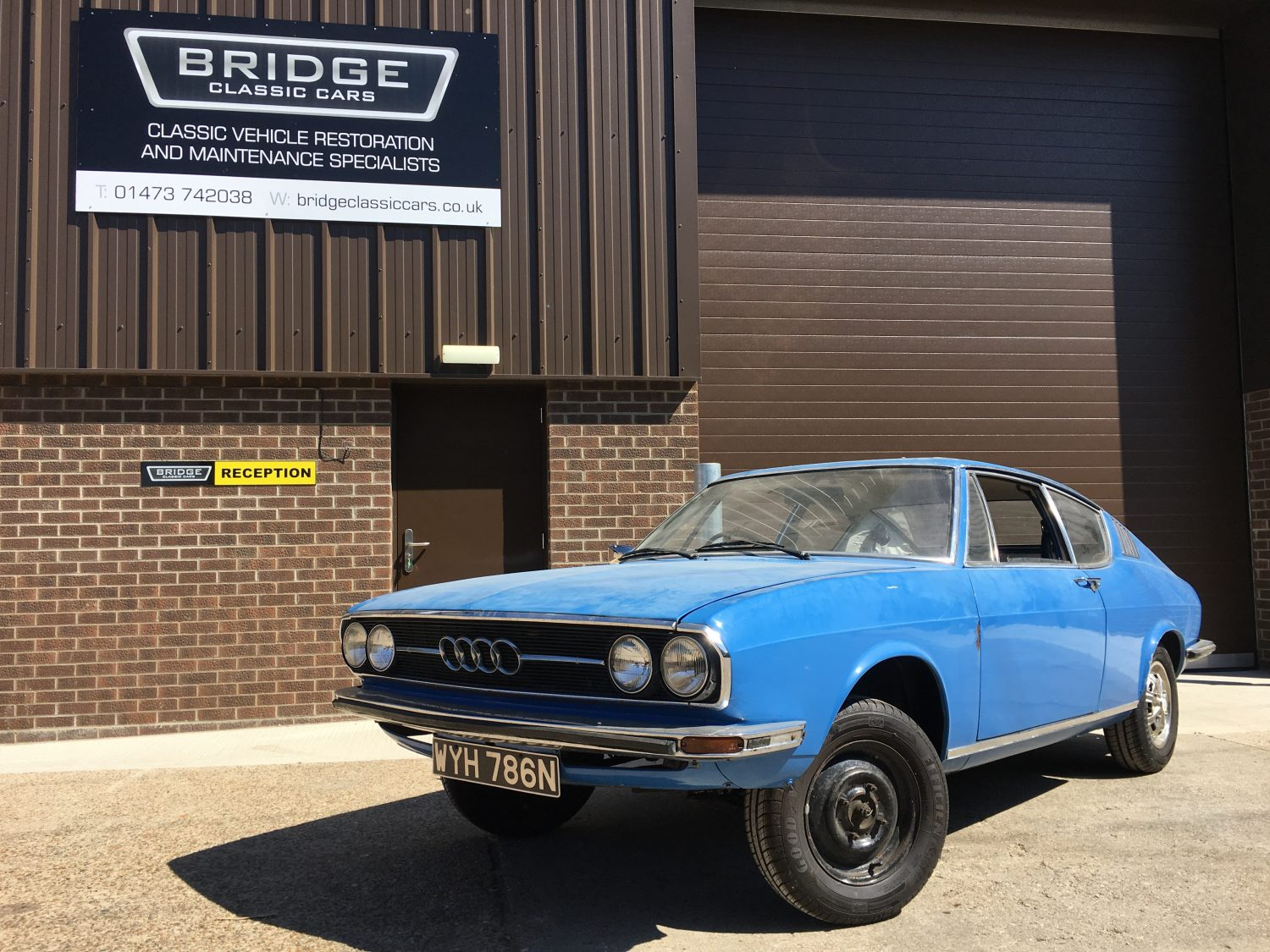 1974 Audi 100 Coupe S in our workshops