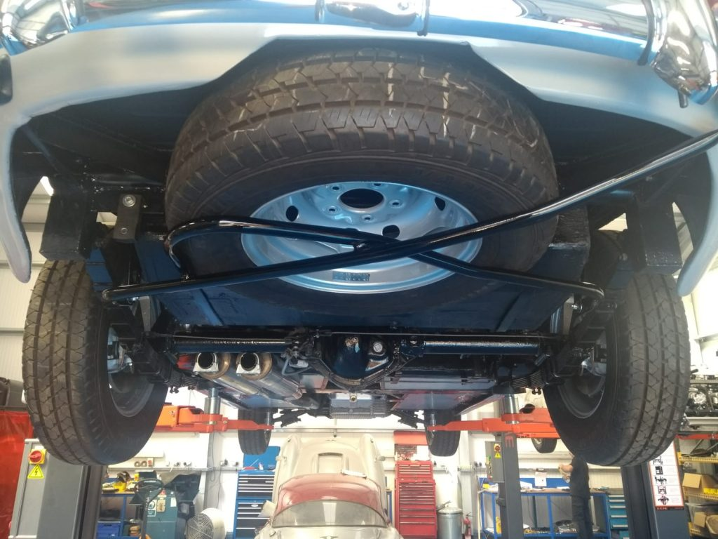 Re-producing the spare wheel carrier