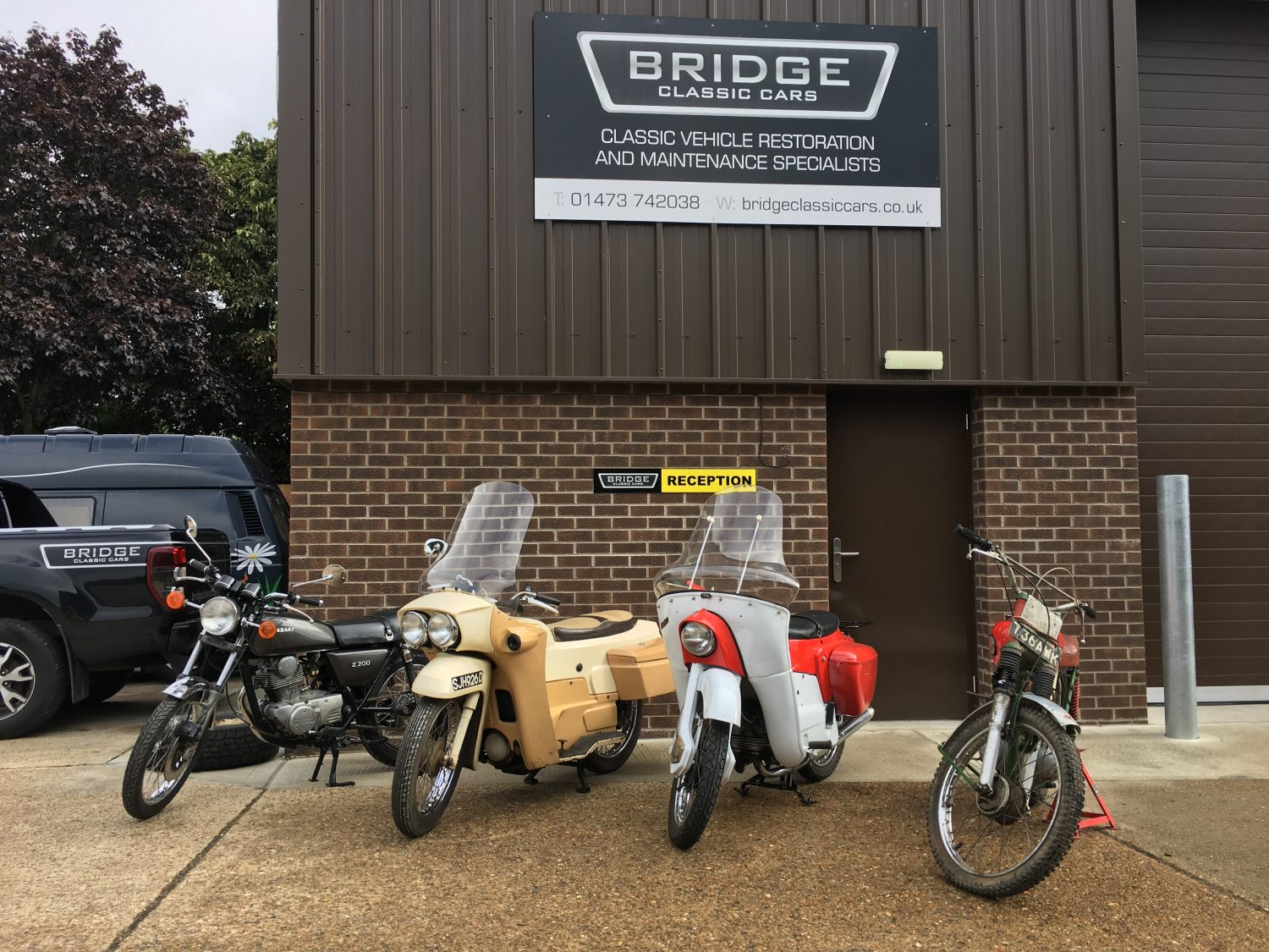 Collection of classic motorcycles