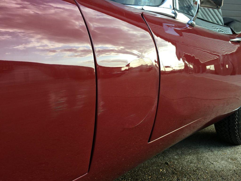 1968 Jaguar E-Type Accident Damage