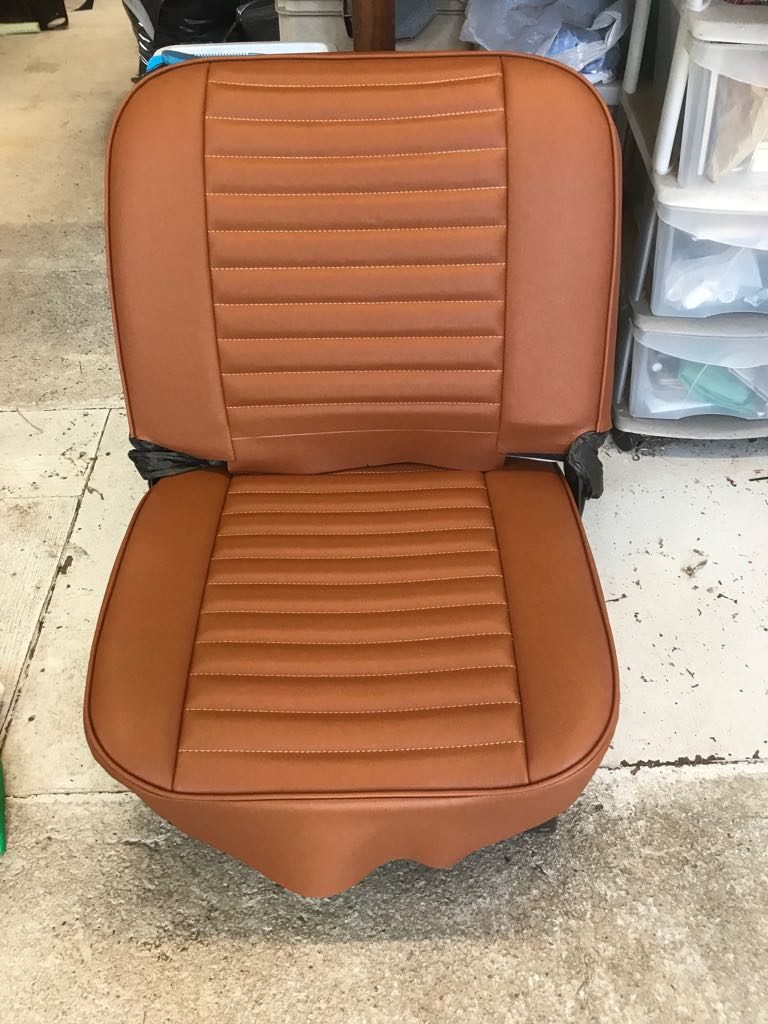 Re-upholstering the Bedford seats