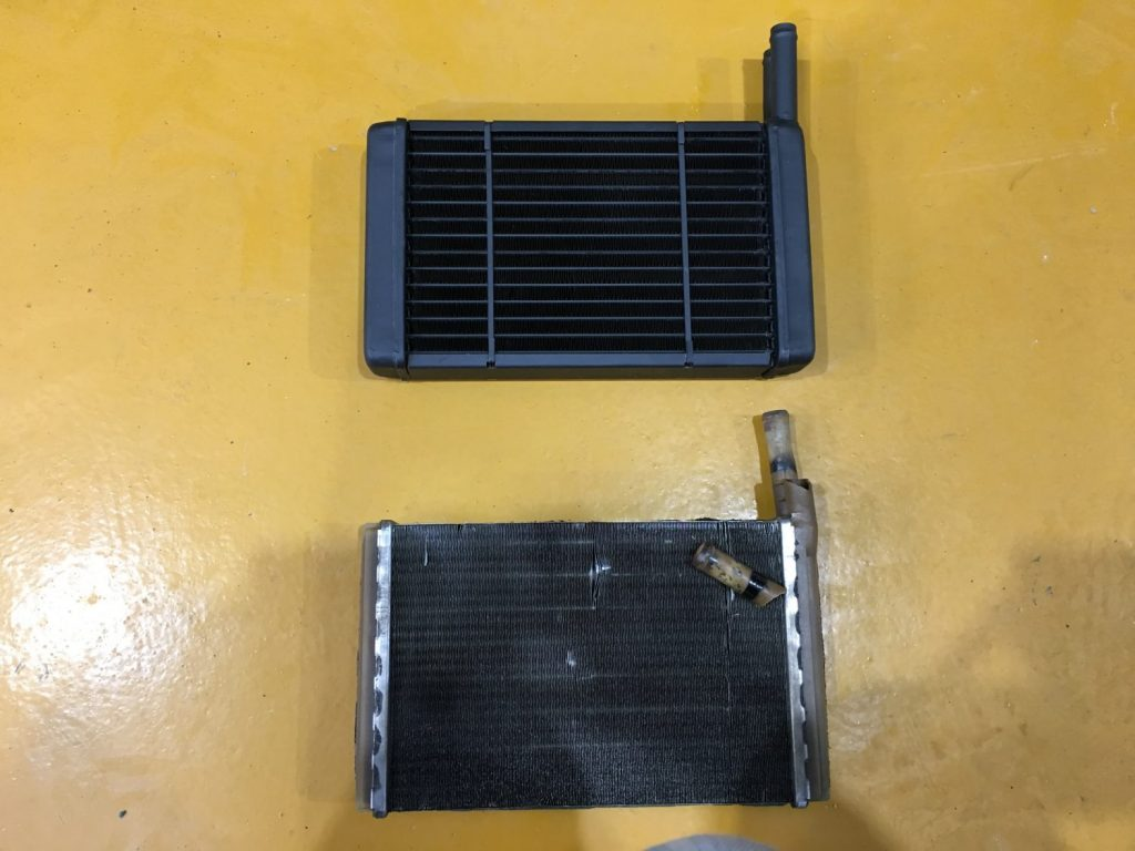 Rebuilding the Capri heater matrix