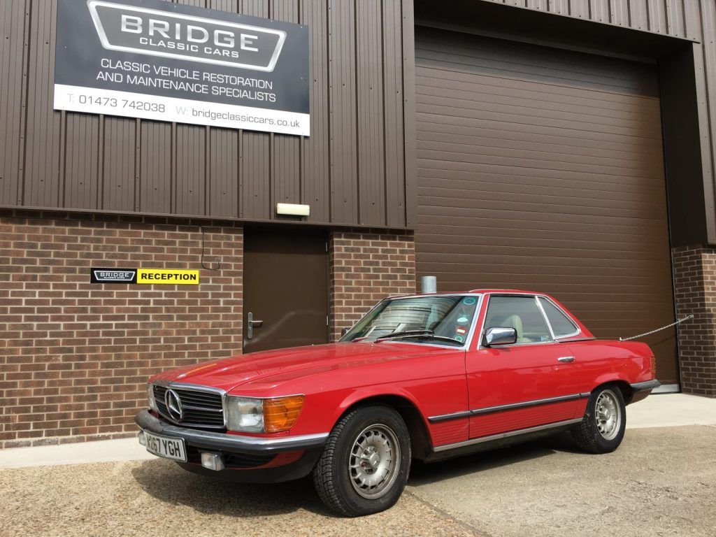 Our 1985 Mercedes 280SL has arrived