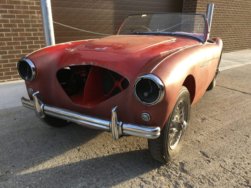 Our Austin Healey 100 has arrived
