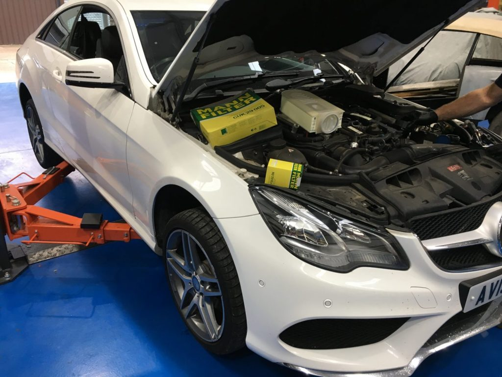 2013 Mercedes E230 – Service, MOT, Tyres