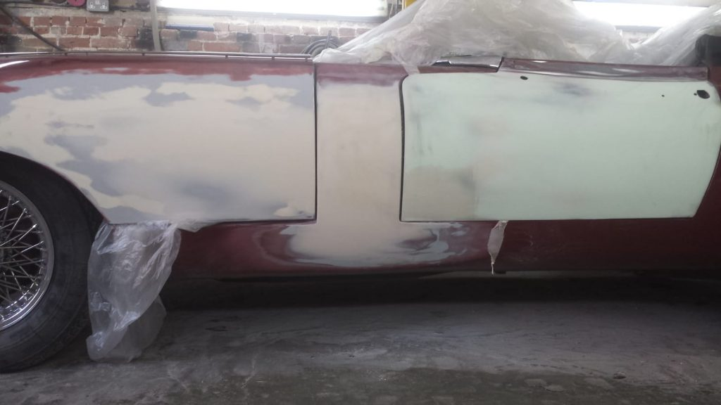 Repair work to our 1968 Jaguar E-Type