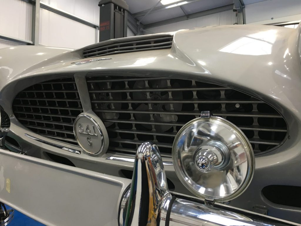 Fabricating the Jensen's front grille surround