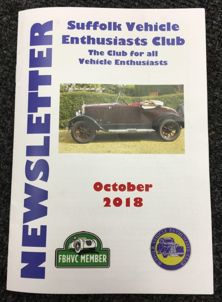 Suffolk Vehicle Enthusiasts Club – October 2018