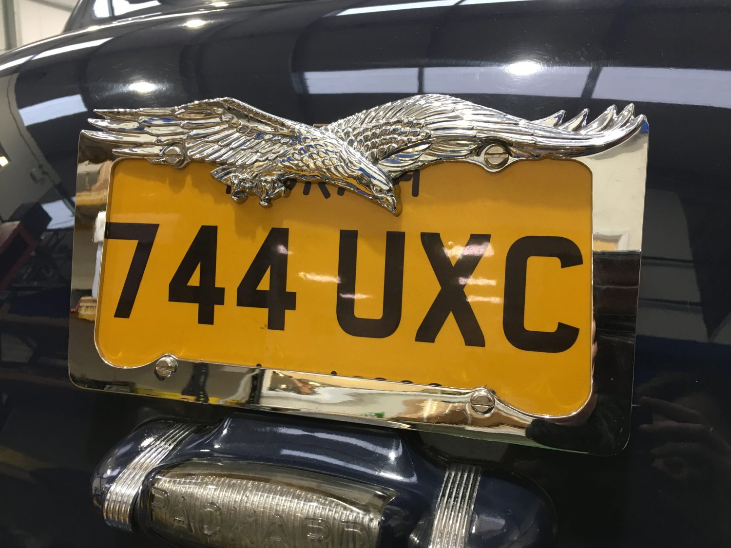 Making up a number plate bracket