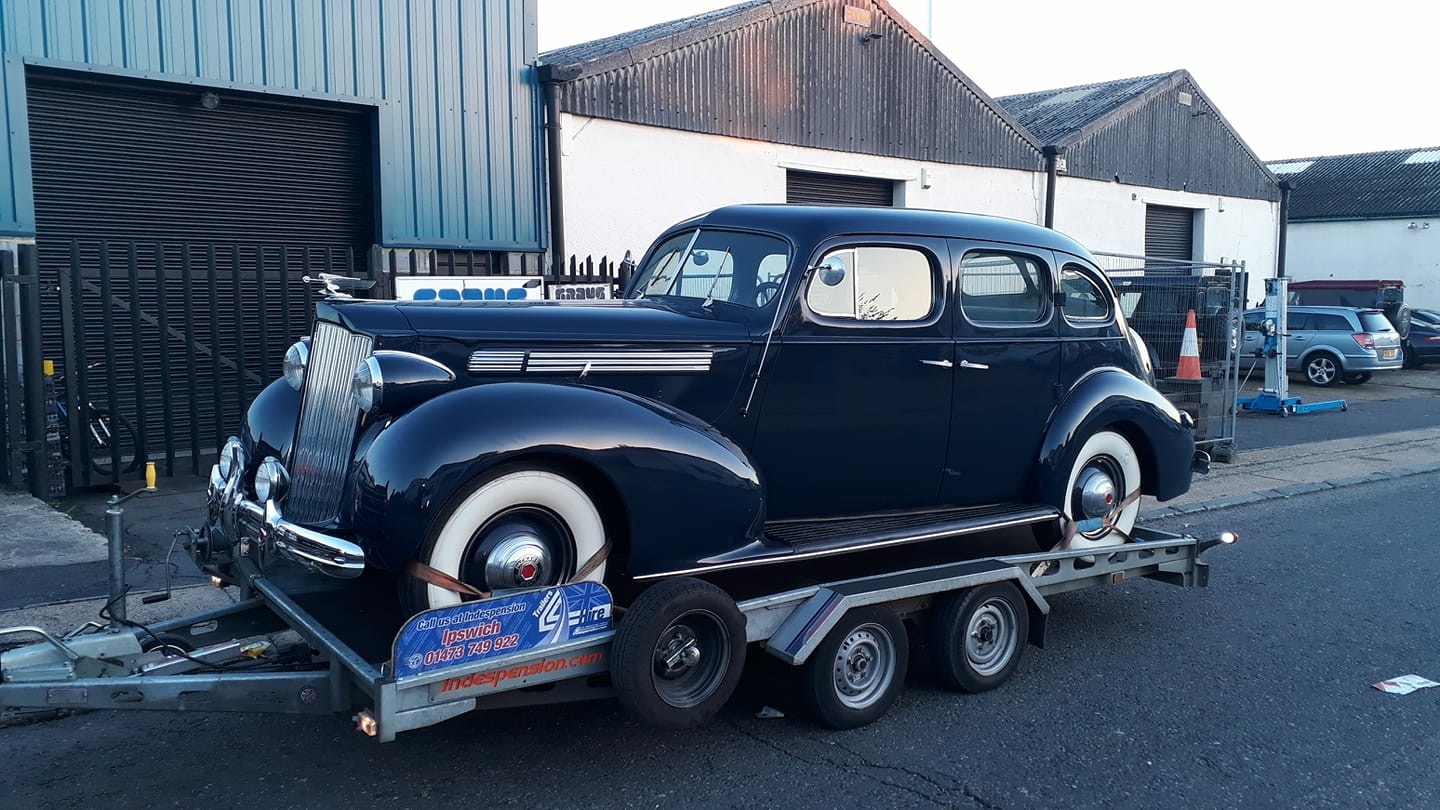Collecting our 1939 Packard 120